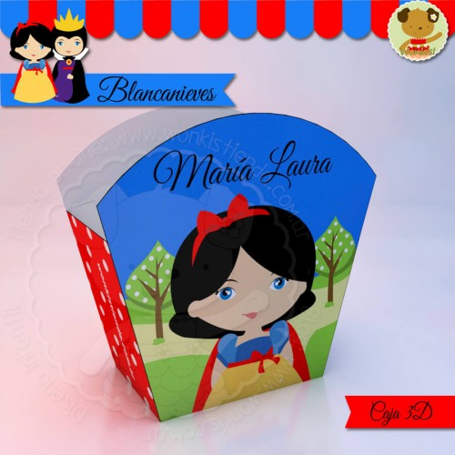 Blancanieves - Caja 3D  Golosinas Maceta