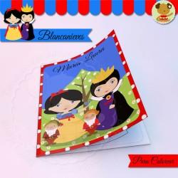 Blancanieves - Cuaderno para colorear