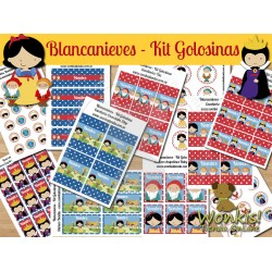 Blancanieves  -  Kit Candy Bar (Golosinas)