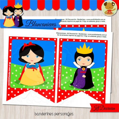 Blancanieves  -  Kit Decoracion Fiesta Imprimible