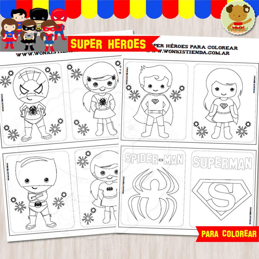 Super Héroes - Cuaderno para colorear