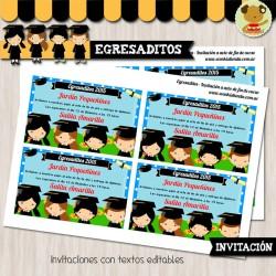 Egresaditos  -  Invitación Textos editables