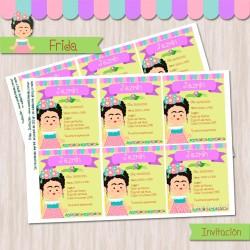 Frida - Invitación Textos Editables