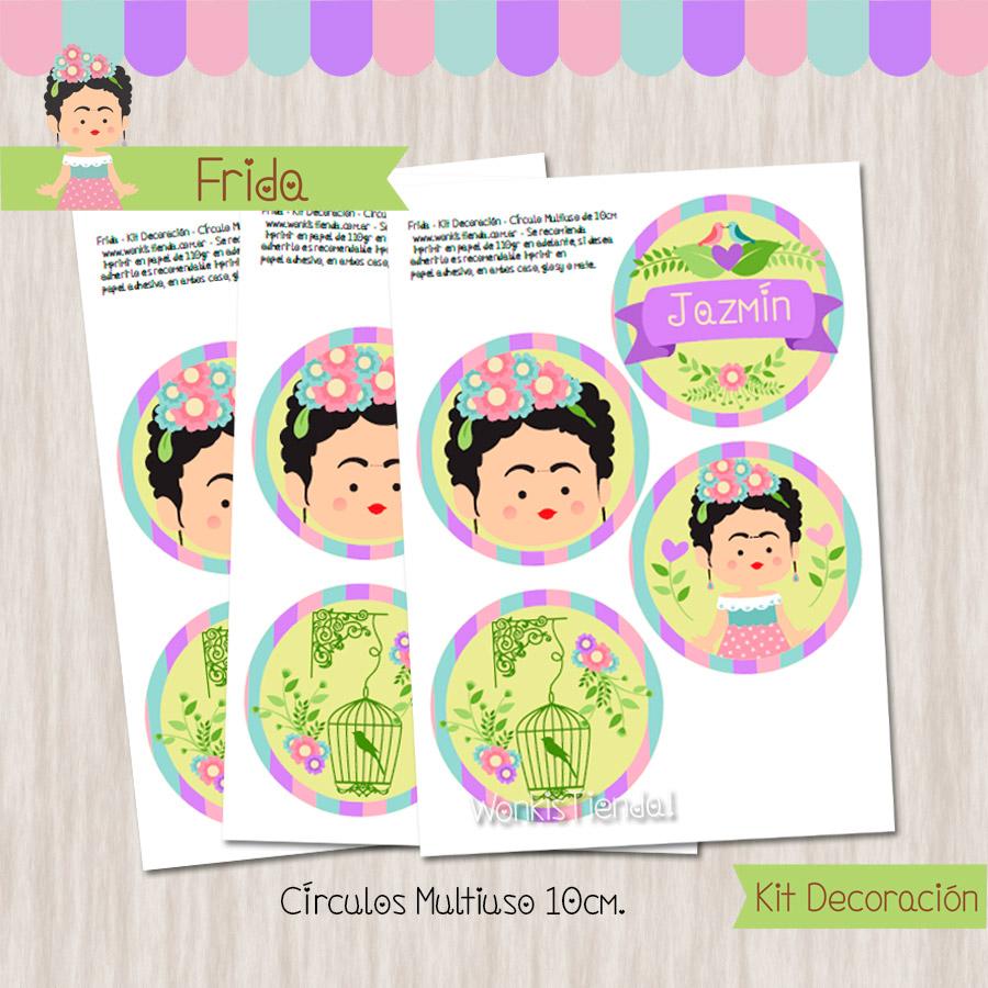 Frida kit decoraci n fiesta imprimible for Cuartos decorados de frida kahlo