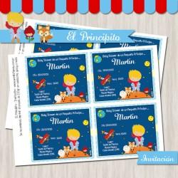 El Principito  -  Baby Shower  Invitación (rubio)