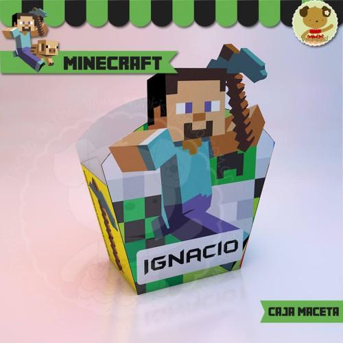 Minecraft  - Caja Golosinas Maceta