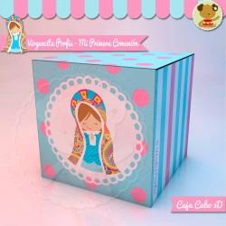 Virgencita Porfis - Caja 3D Cubo