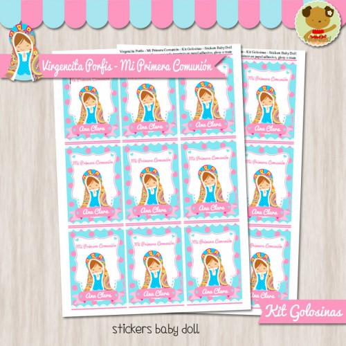 Virgencita Porfis - Kit Candy Bar (Golosinas)