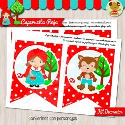 Caperucita Roja - Kit Decoración Fiesta Imprimible