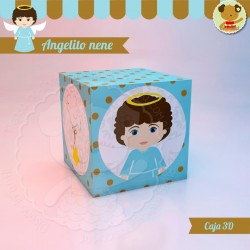 Angelito nene - Caja 3D Cubo