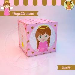 Angelito nena - Caja 3D Cubo