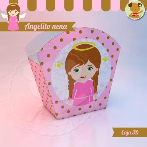 Angelito nena - Caja 3D  Golosinas Maceta