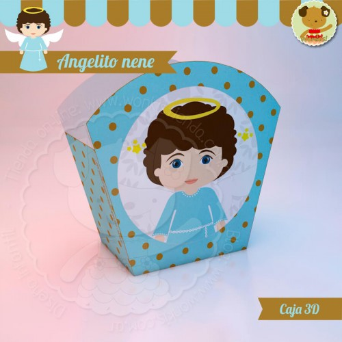 Angelito nene - Caja 3D  Golosinas Maceta