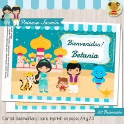 Princesa Jasmín -  Kit Decoracion Fiesta Imprimible