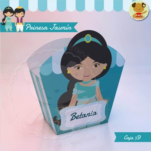 Princesa Jasmín - Caja 3D  Golosinas Maceta