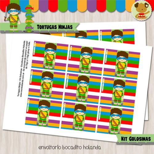 Tortugas Ninjas - Kit Candy Bar (Golosinas)