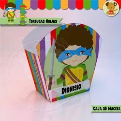 Tortugas Ninjas - Caja 3D  Golosinas Maceta
