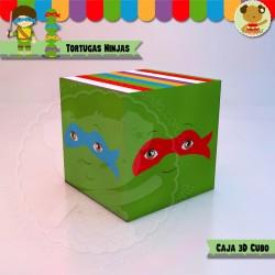 Tortugas Ninjas - Caja 3D Cubo