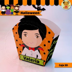 Halloween Drácula - Caja 3D  Golosinas Maceta