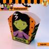 Halloween Bruja Verde - Caja 3D  Golosinas Maceta