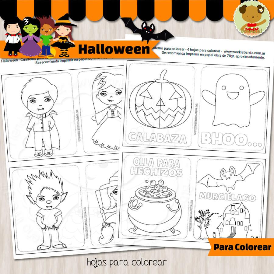 Halloween - Cuaderno para colorear