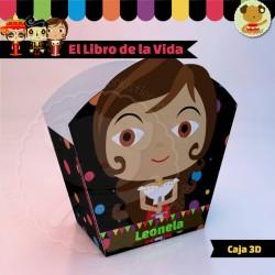 El Libro de la Vida Maria  - Caja 3D  Golosinas Maceta