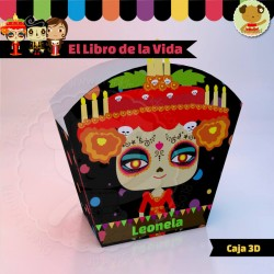 El Libro de la Vida Catrina  - Caja 3D  Golosinas Maceta