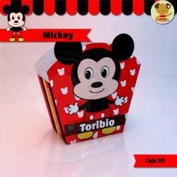 Mickey - Caja 3D  Golosinas Maceta