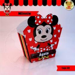 Minnie - Caja 3D  Golosinas Maceta