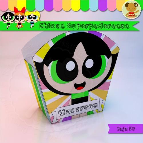 Chicas Superpoderosas - Caja 3D  Golosinas Maceta