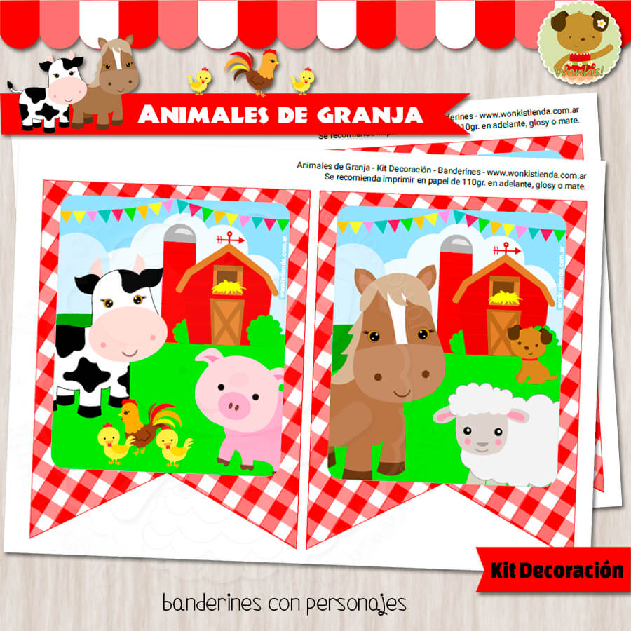 Animales de Granja - Kit Candy Bar (Golosinas)