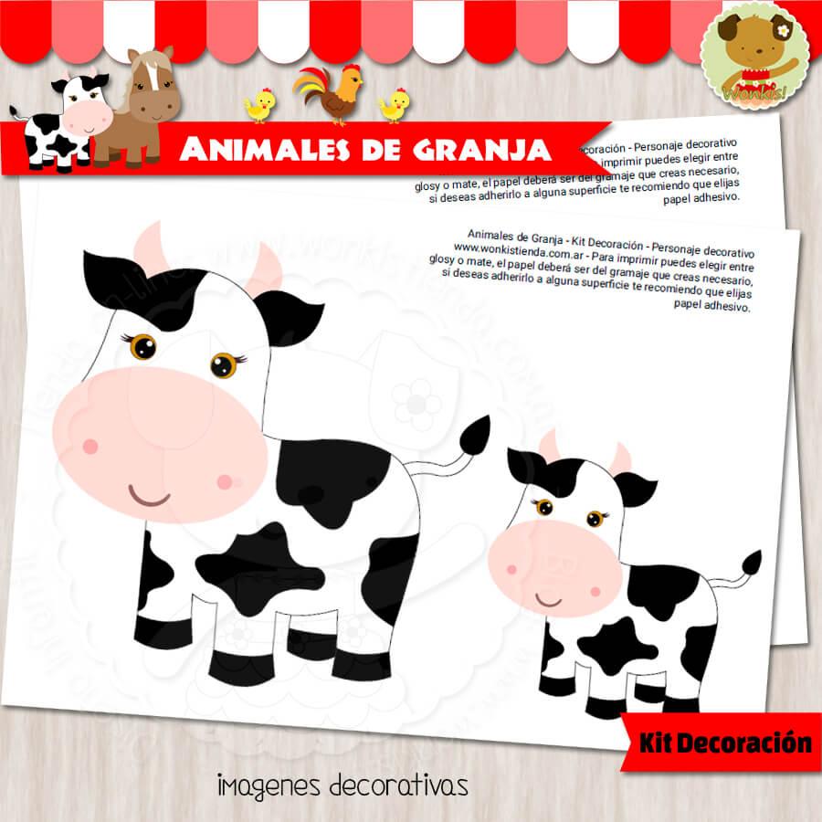 4b5700d253225 Animales de Granja - Kit Decoración Fiesta Imprimible