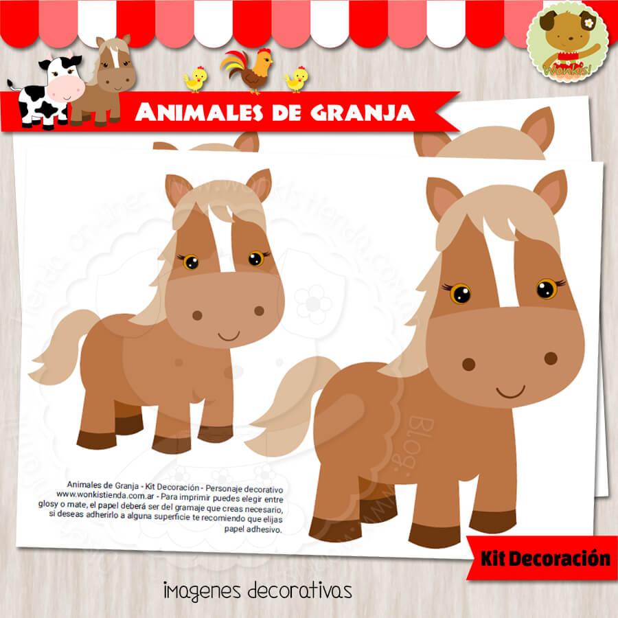 Animales de Granja - Kit Decoración Fiesta Imprimible