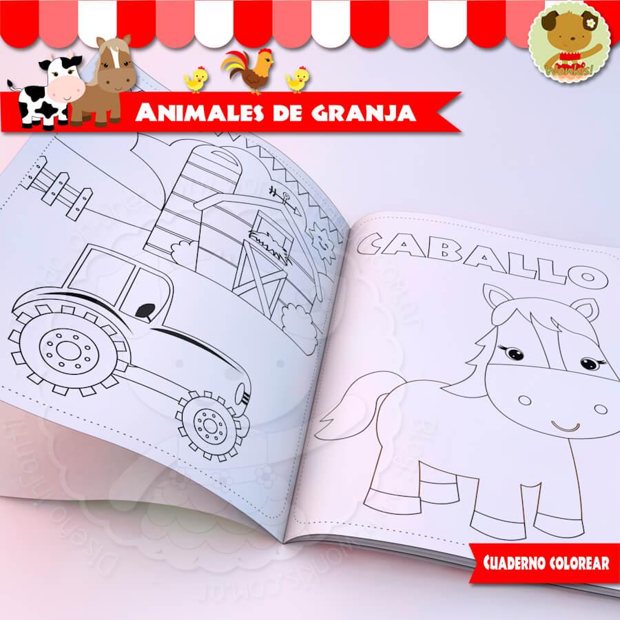 Perfecto Libro Para Colorear De Animales De Granja Inspiración ...