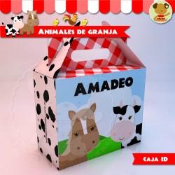 """Animales de Granja - Caja Golosinas  """"Feliz"""""""