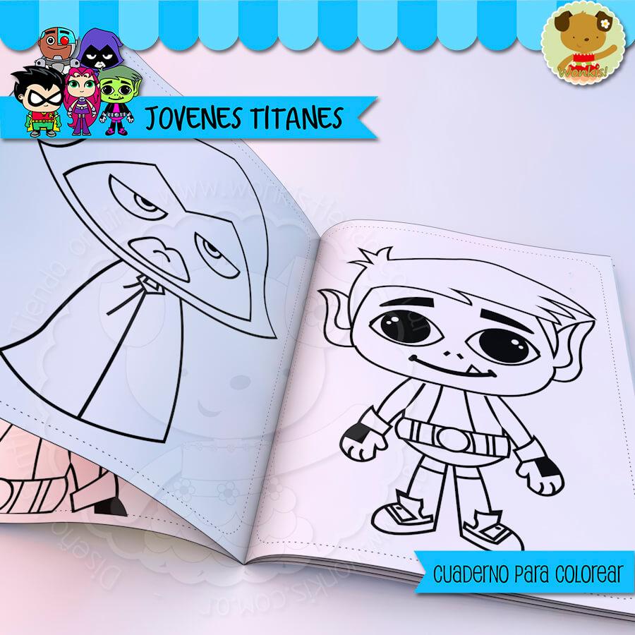 Jóvenes Titanes Cuaderno Para Colorear