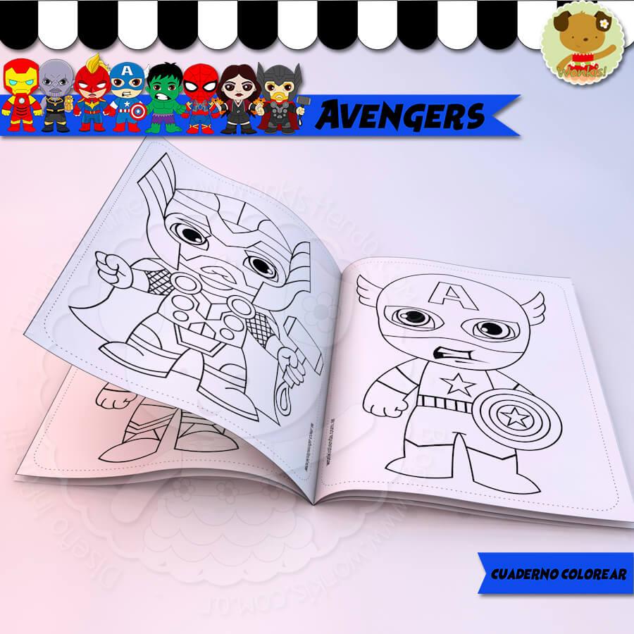 Avengers Cuaderno Para Colorear