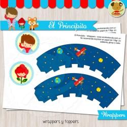 El Principito moreno - Wrappers y Toppers