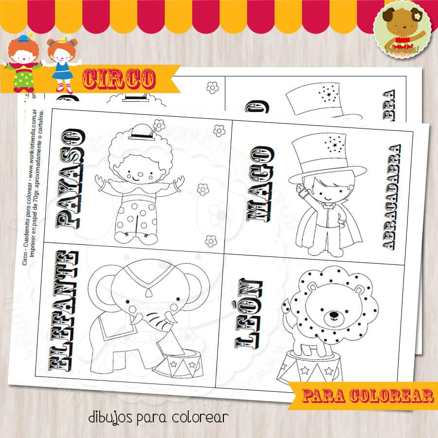 Circo - Cuaderno para colorear