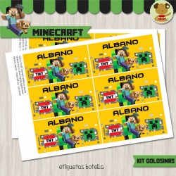 Minecraft -  Kit Candy Bar (Golosinas)