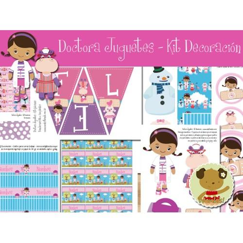 Doctora Juguetes -  Kit Decoracion Fiesta Imprimible