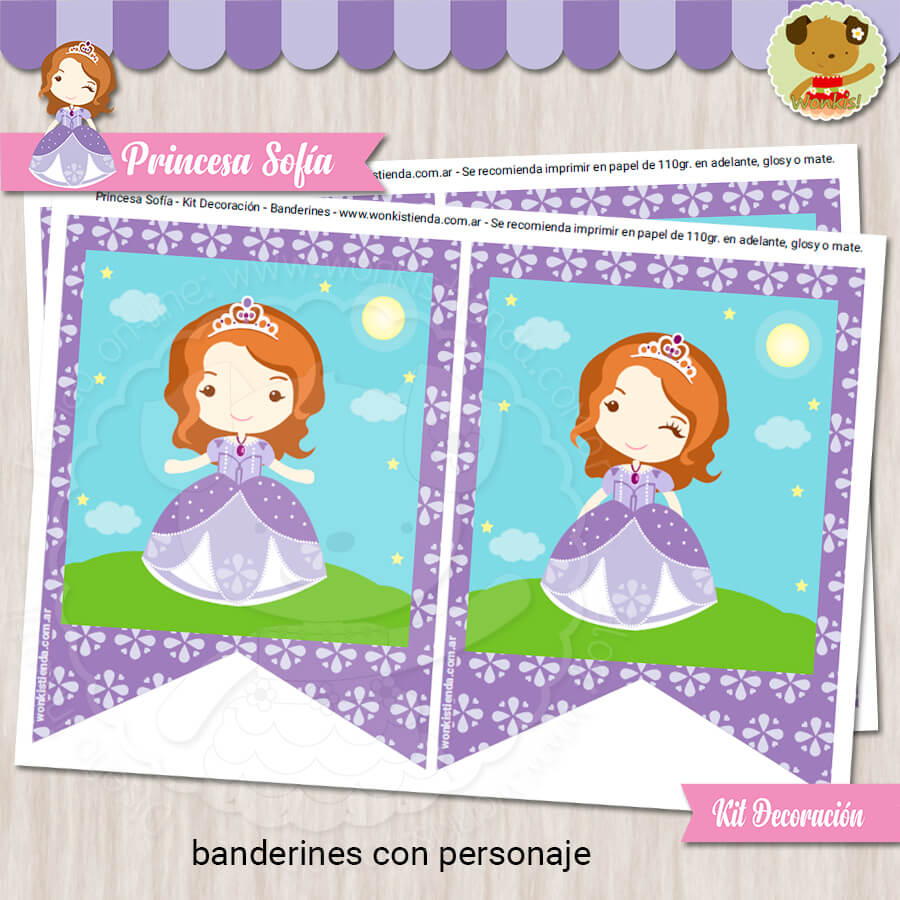 Princesa Sofia - Kit Decoracion Fiesta Imprimible