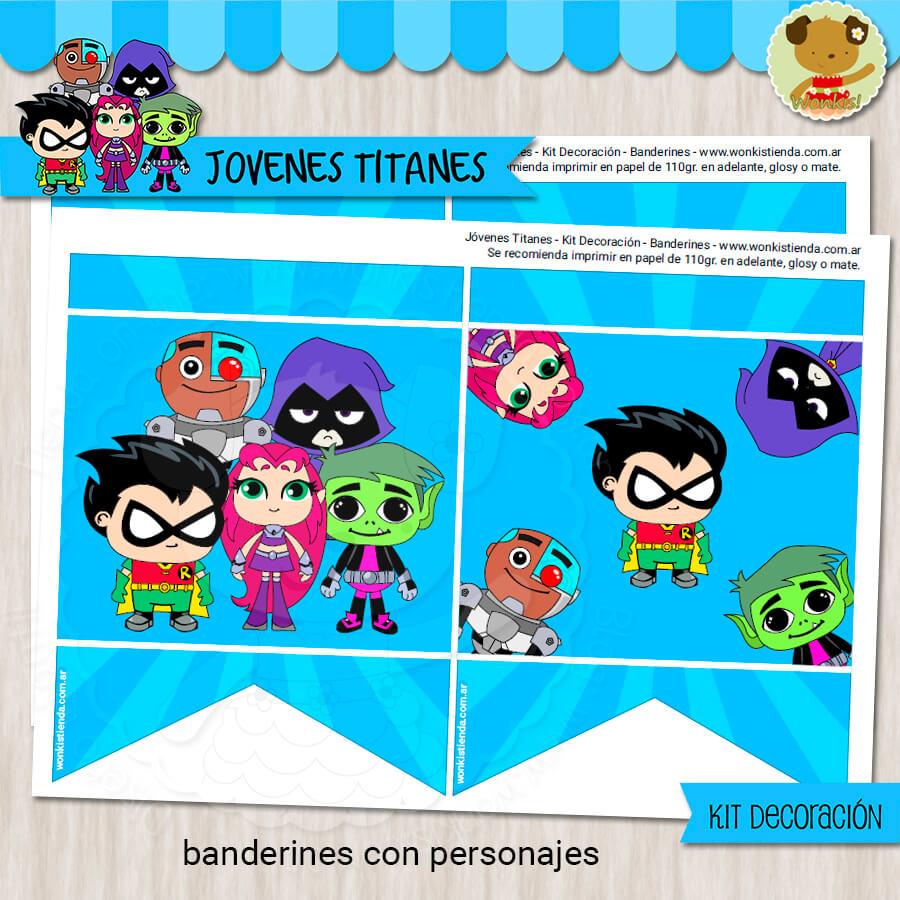 Jóvenes Titanes Kit Decoracion Fiesta Imprimible