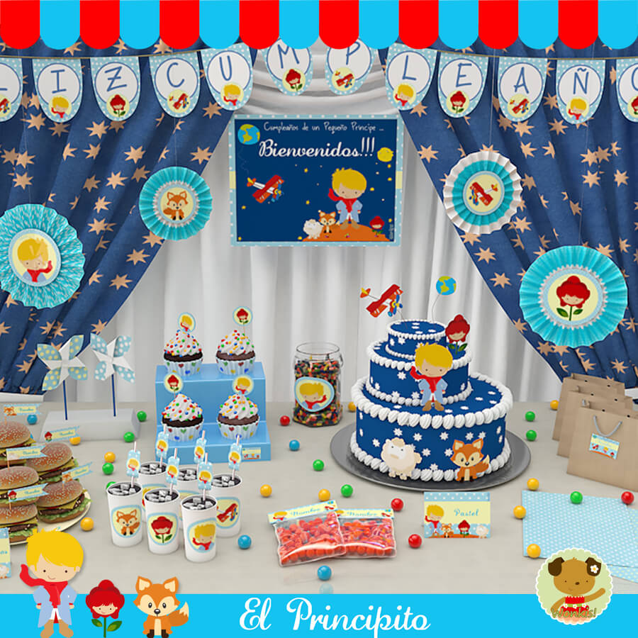 El principito kit decoracion fiesta imprimible for El mundo decoracion